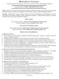 Resume For Childcare Child Care Skills Objective