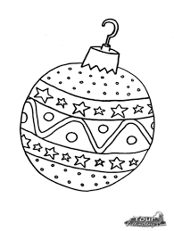 Coloring Pages Christmas Ornaments Printable Inside Templates For 2017
