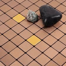 alucobond tile ACP brushed aluminum mosaic sheets metal tile