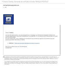 faux mail de la banque postale tentative de phishing chez fenotte