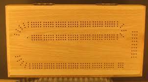 Box Style Oak Cribbage Board