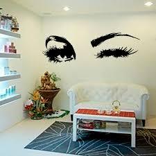 YOYOYU Wall Decal Beautiful Big Eye Lashes Wink Decor Art Mural Vinyl Stickers Interior