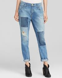 current elliott jeans the fling boyfriend in kasey with repair