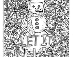 Christmas Coloring Page Book Pages Printable Adult Hand Drawn Art