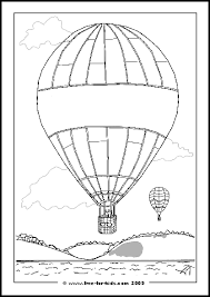 Balloon Colouring Page Left Blank For Your Own Message