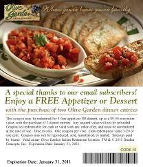 Free Dessert or Appetizer at Olive Garden Who Said Nothing in