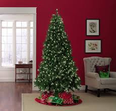 Cheap Pre Lit Pencil Christmas Trees by Trimming Traditions 7 5 U0027 500 Clear Light Pre Lit Manchester Pine
