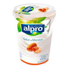 alpro soja joghurtalternative natur mit mandel 500g
