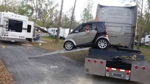 Smart Car Unloading From Semi At RV Park - YouTube Rv Trailer With A Smart Car And It Can Do Sharp Turns Sew Ez Quilting Vs Our Truck Car Food Truck Food Trucks Pinterest Dtown Austin Texas Not But A Food Smart Car Images 2 Injured In Crash Volving Smart Dump Wsoctv Compared To Big Mildlyteresting Be Album On Imgur Dukes Of Hazzard Collector Fan Fair The Smashed Between 1 Ton Flat Bed Large Delivery Page Crashed Into The Mercedes Cclass Sedan Went Airborne Image Smtfowocarmonstertruck6jpg Monster Wiki