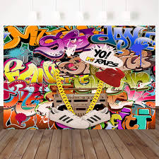 100 Urban Art Studio Mehofoto Hip Hop Graffiti Backdrop Retro 80th 90th Themed Party Photography Backdrops 7x5ft Graffiti Wall Background For Picture