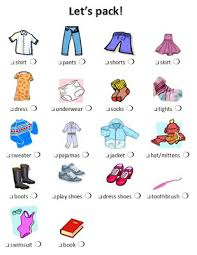 The Incompetent Housewife Packing Lists For Girls