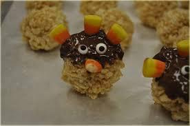 Rice Krispie Treats Halloween Shapes by Thanksgiving Rice Krispies Turkey Pop Treats