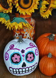 Skeleton Pumpkin Carving Patterns Free by Artelexia Day Of The Dead Diy 18 Sugar Skull Pumpkins All