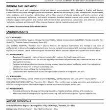 Resume Profile Examples For Registered Nurse Lovely Icu Rn
