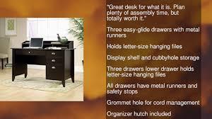 Sauder Lateral File Cabinet Assembly by Sauder Shoal Creek Desk Jamocha Wood Youtube