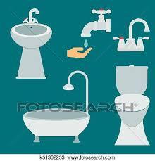 bad ausrüstung symbol kloschüssel badezimmer sauber