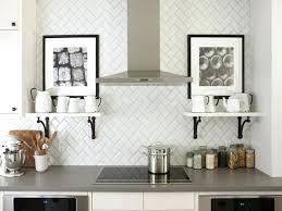 porcelain tile backsplash kitchen interior modern subway tile