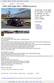 100 Atlanta Craigslist Cars And Trucks For 4900 This 1982 AMC Eagle SX4 Looks Ready To Fly
