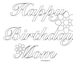 coloring pages happy birthday mom new on line drawings with printable dad ha