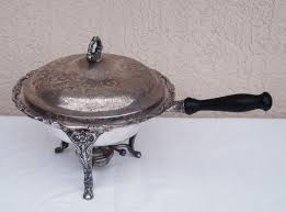 Vintage Silver Plated Chafing Dish Bowl Buffet Food Warmer