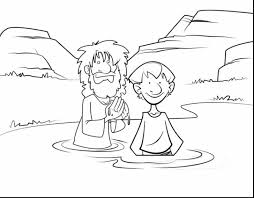 Jesus Being Baptized Coloring Page