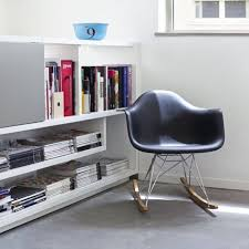 100 Eames Style Rocking Chair Eames Style Rar Molded Black Plastic Rocking Chair With Steel Eiffel