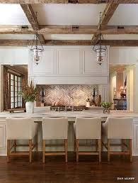 White Rustic Kitchen Cabinets Best 20 Kitchens Ideas On Pinterest Chic Classy Design