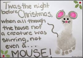 Twas The Night Before Halloween Book by House Of Burke Twas The Night Before Christmas Mouse Footprint Craft