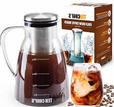 Cold Brew Coffee Maker And Tea Infuser 32oz Premium Glass Pitcher With Lid Stainless Steel Filterperfect
