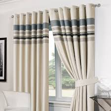 Blackout Curtain Liner Eyelet by Striped Ring Top Lined Pair Eyelet Ready Made Thermal Blackout