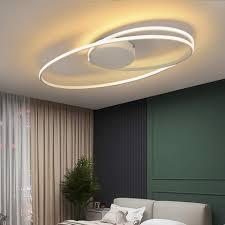 zmh led deckenleuchte schwarz wohnzimmerle in ring design 36w 3000k warmweiß innen deckenbeleuchtung für wohnzimmer schlafzimmer küche esszimmer