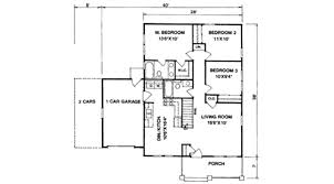 Craftsman Style Floor Plans by Craftsman Style House Plan 3 Beds 2 00 Baths 1064 Sq Ft Plan