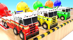 100 Toddler Fire Truck Videos Colors For Children To Learn With Color Changing 3D