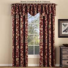 Jacobean Floral Design Curtains by Melbourne Jacobean Floral Burgundy Chenille Window Treatment