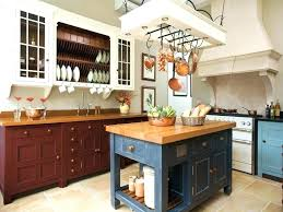 Attached Kitchen Island Pot Rack With Hanging Pan Round