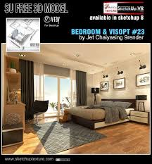 Floor Materials For Sketchup by Sketchup Texture Fre Sketchup 3d Model U0026 Visopt Bedroom 23