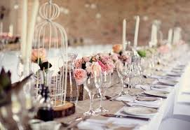 Glamorous Rustic Vintage Wedding Table Settings 75 With Additional Candy