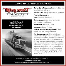Hiring Long Haul Truck Drivers - First Nations Drum Newspaper What You Should Know If Want To Be A Cross Country Trucker Entrylevel Truck Driving Jobs No Experience Long Haul Trucking Companies Shipping Advantages Of Becoming A Driver For Veterans Get Hired Today For Longhaul 200 Mile Radius Of Nashville Tn Ex Truckers Getting Back Into Need Mc Drivers Tanunda Australia How The Hot Weather Can Take Toll On Middleton