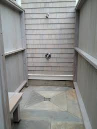 Outdoor Shower Floor Marvelous Private Outside With Stone Hgtv
