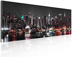 decomonkey bilder new york 150x50 cm 1 teilig leinwandbilder bild auf leinwand vlies wandbild kunstdruck wanddeko wand wohnzimmer wanddekoration