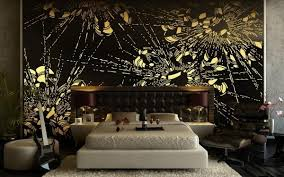 bedroom design ideas wall decoration modern black and gold