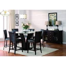 5 Piece Counter Height Dining Room Sets by Homelegance Daisy 5 Piece Round Counter Height Set In Dark Brown