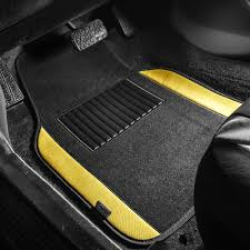 100 Floor Mats Truck BESTFH 4pc Universal Carpet For Car SUV Yellow W