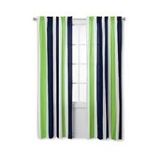 Green Striped Curtain Panels by Edison Curtain Panel 22 Liked On Polyvore Featuring Home