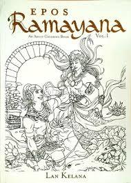 An Adult Colouring Book Vol 1 Epos Ramayana Oleh Lan Kelana