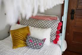 Pom Pom Oversized Floor Pillow Tutorial – A Beautiful Mess