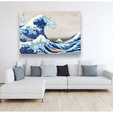 leinwand japanische kunst the great wave