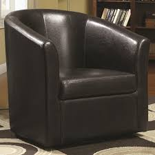 Natuzzi Brown Leather Swivel Chair by Amazon Com Coaster Home Furnishings Modern Transitional Barrel