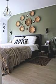 schwarz weiß und camouflage grün schlafzimmer mit