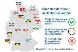 rauchmelderpflicht deutschland bundesländer mit